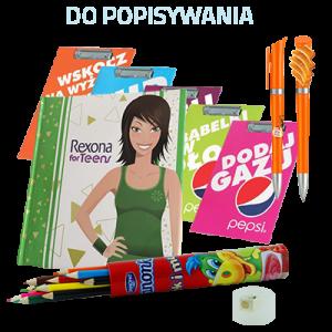 Artykuły szkolne, biurowe, reklamowe, długopisy, podkładki, memonoty